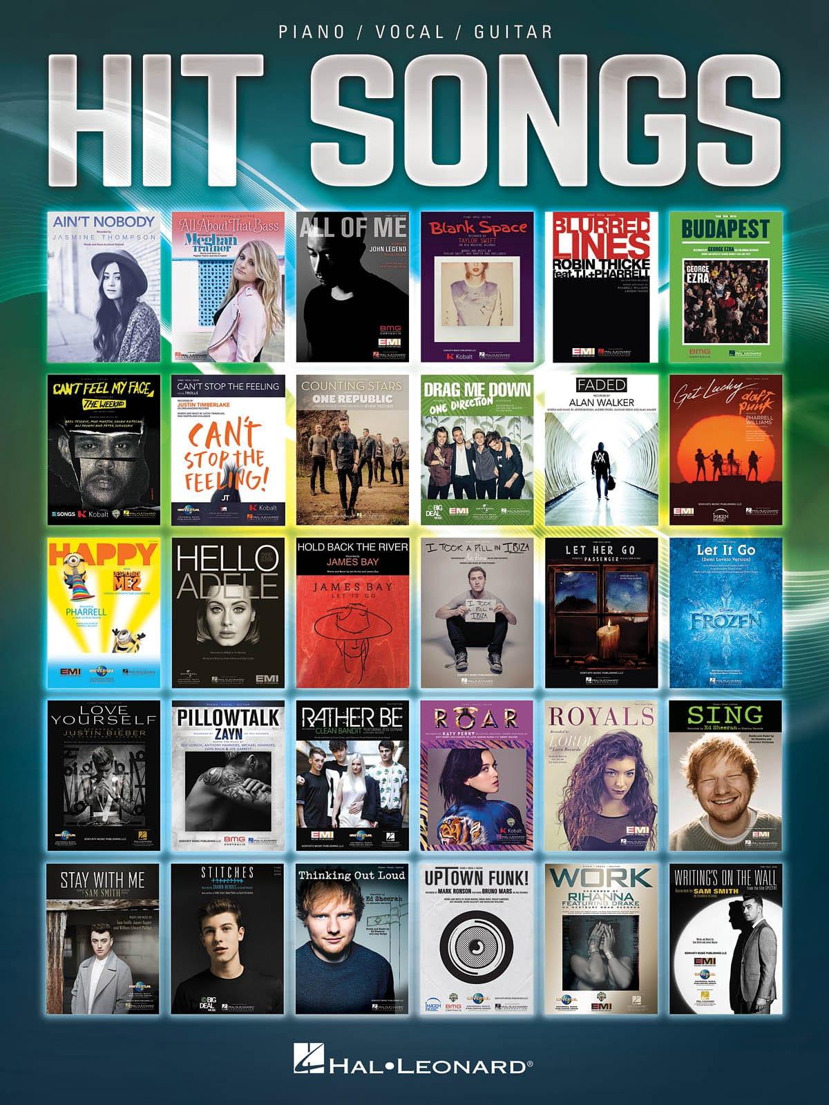 Hit Songs - Partition - Pop / Rock - laflutedepan.com