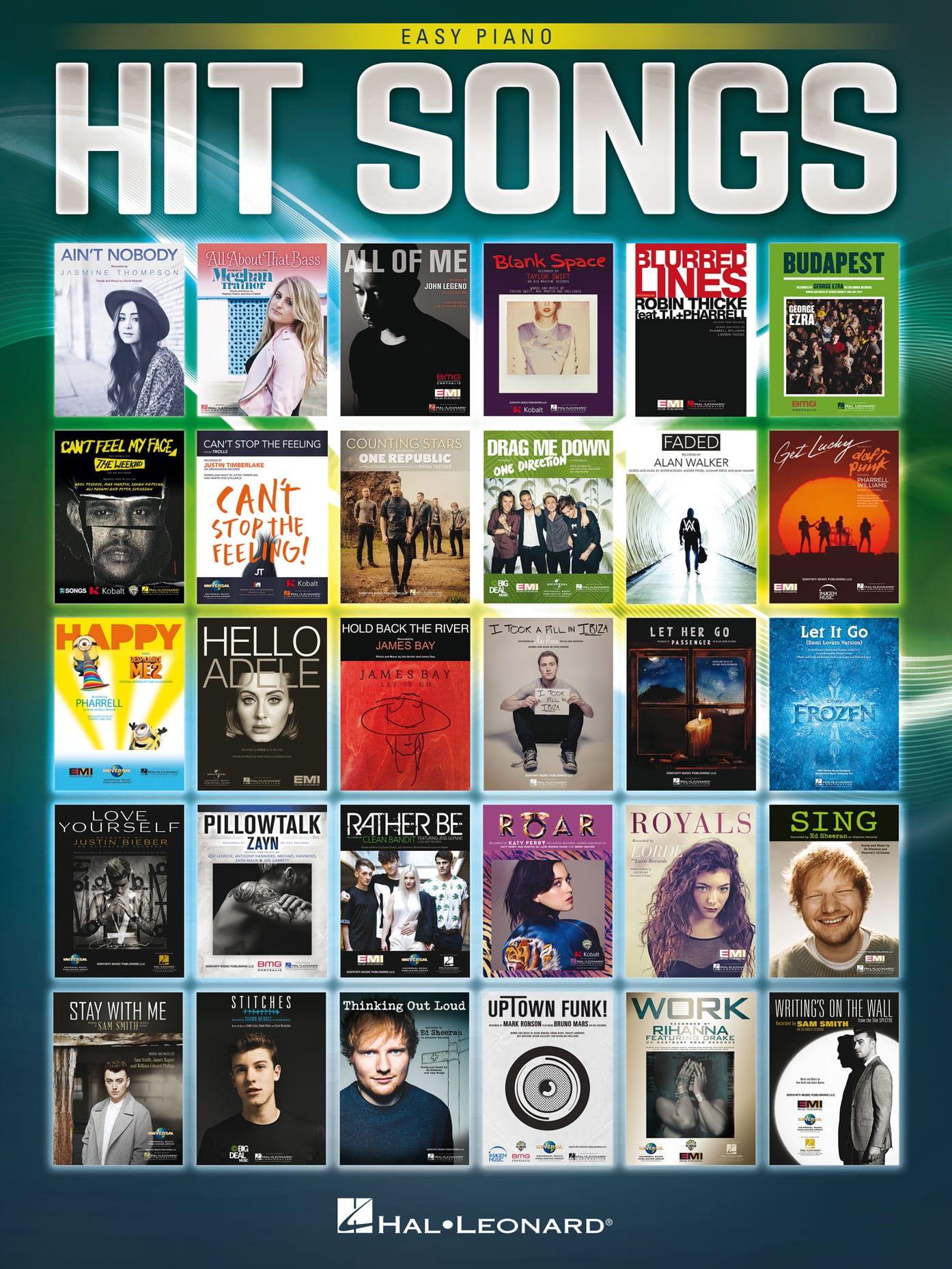 Hit Songs - Easy Piano - Partition - Pop / Rock - laflutedepan.com