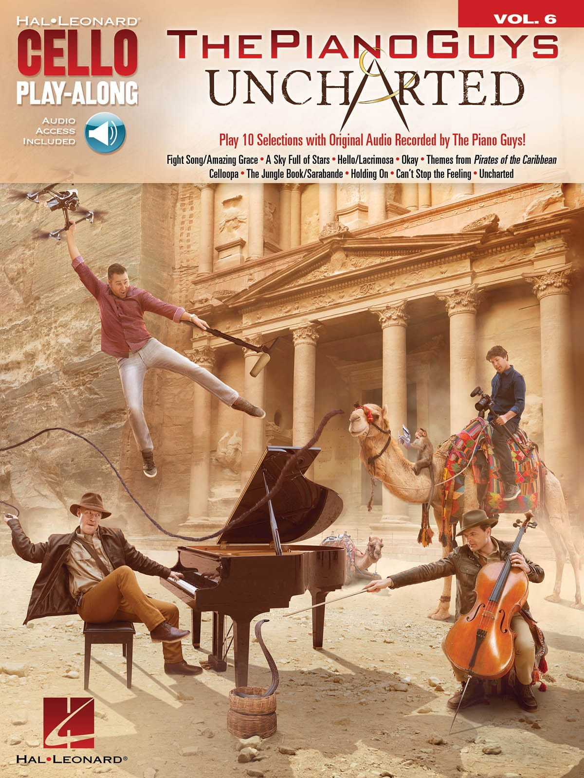 ThePianoGuys - Cello Play-Along Band 6 - Die Piano Guys - Uncharted - Partition - di-arezzo.de