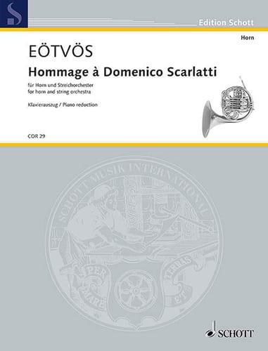 Hommage à Domenico Scarlatti - Peter Eotvos - laflutedepan.com