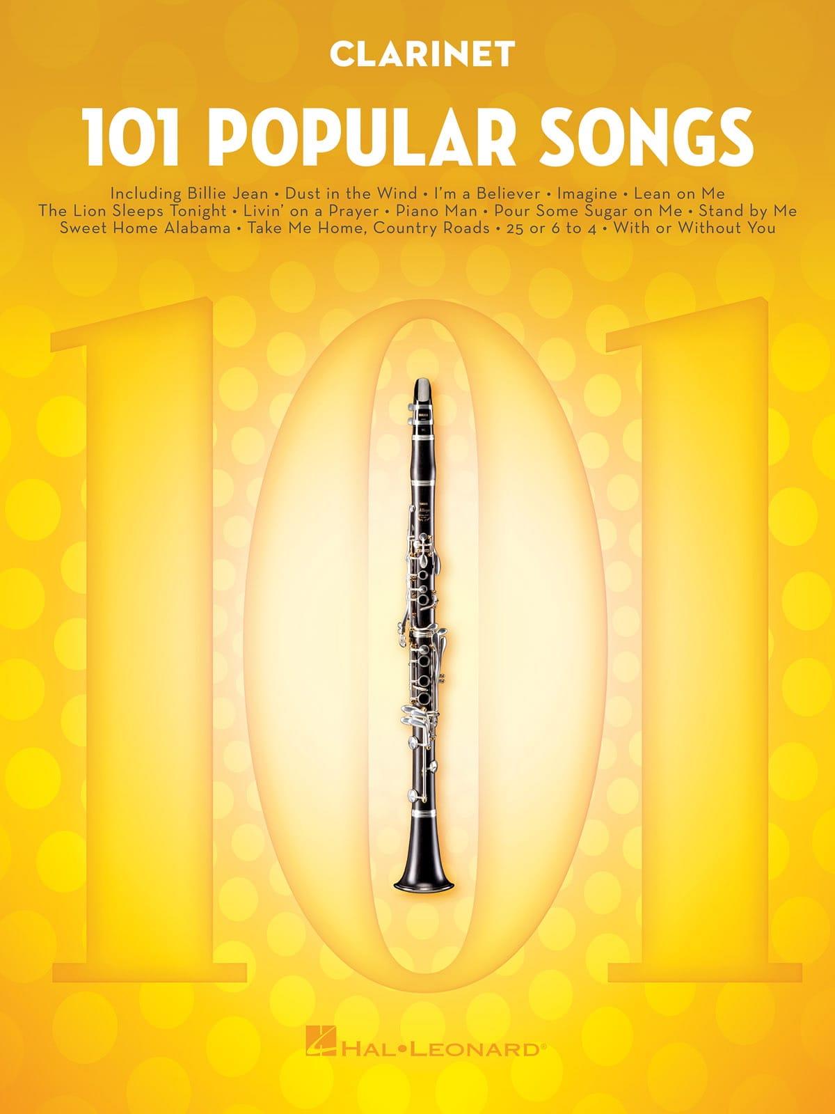 101 Popular Songs - Partition - Clarinette - laflutedepan.com
