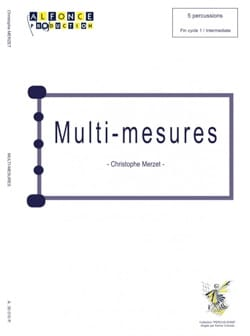 Christophe Merzet - Multi Measures - Partition - di-arezzo.com