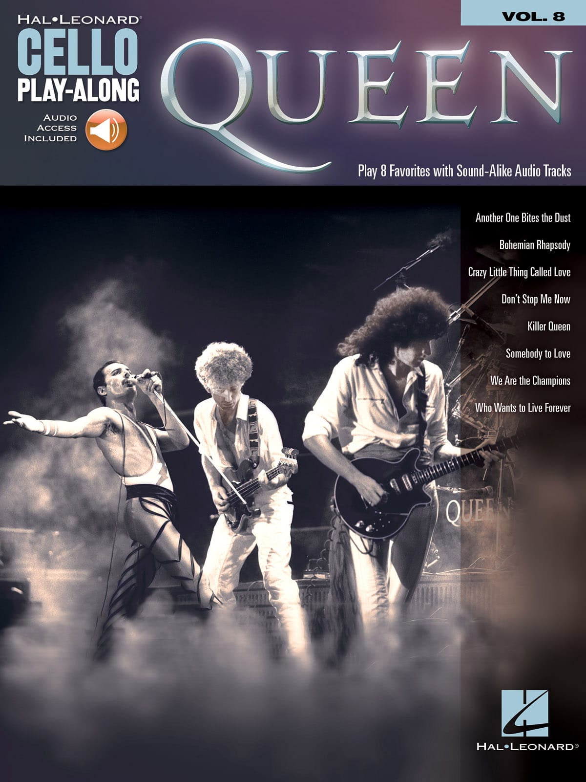 Cello Play-Along Volume 8 - Queen - Queen - laflutedepan.com