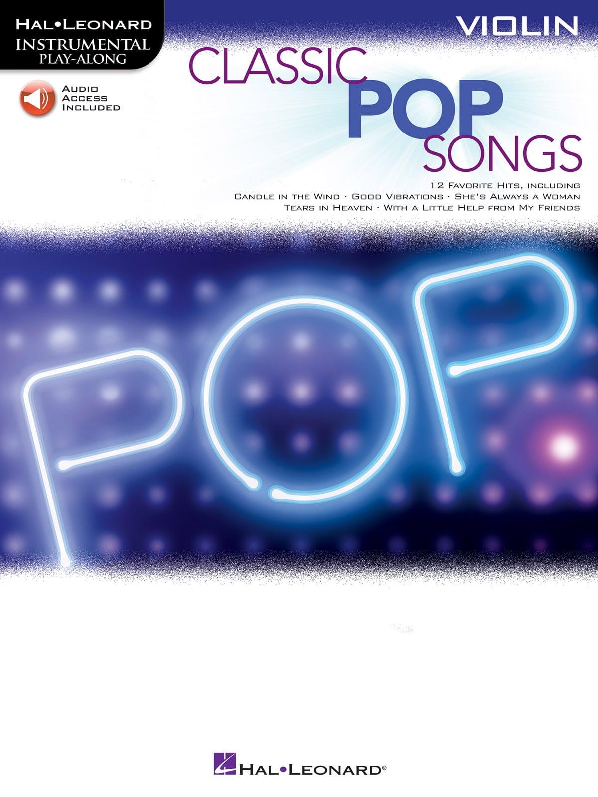 Classic Pop Songs - Partition - Violon - laflutedepan.com
