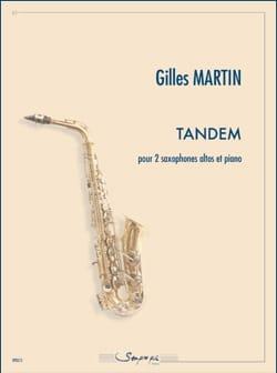 Tandem - Gilles Martin - Partition - Saxophone - laflutedepan.com