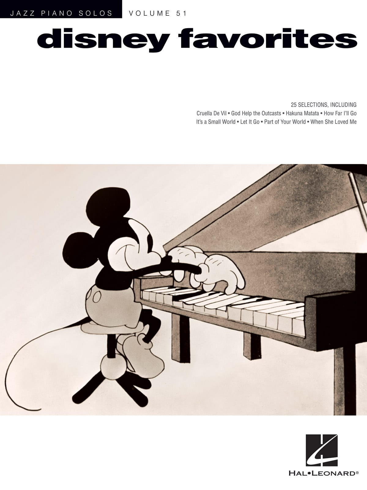 Jazz Piano Solos Series Volume 51 - Disney Favorites - laflutedepan.com
