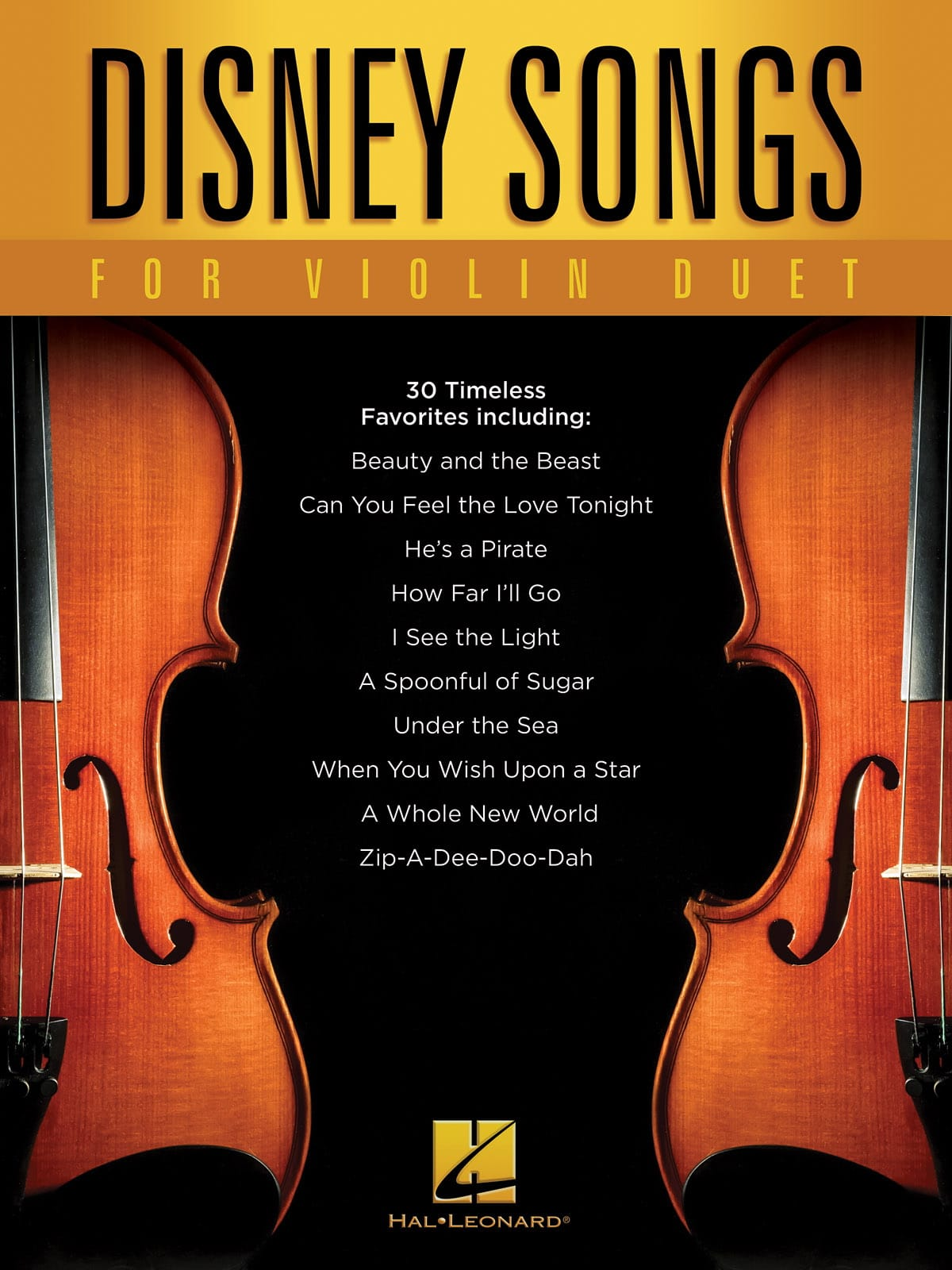 Disney Songs for Violin Duet - DISNEY - Partition - laflutedepan.com