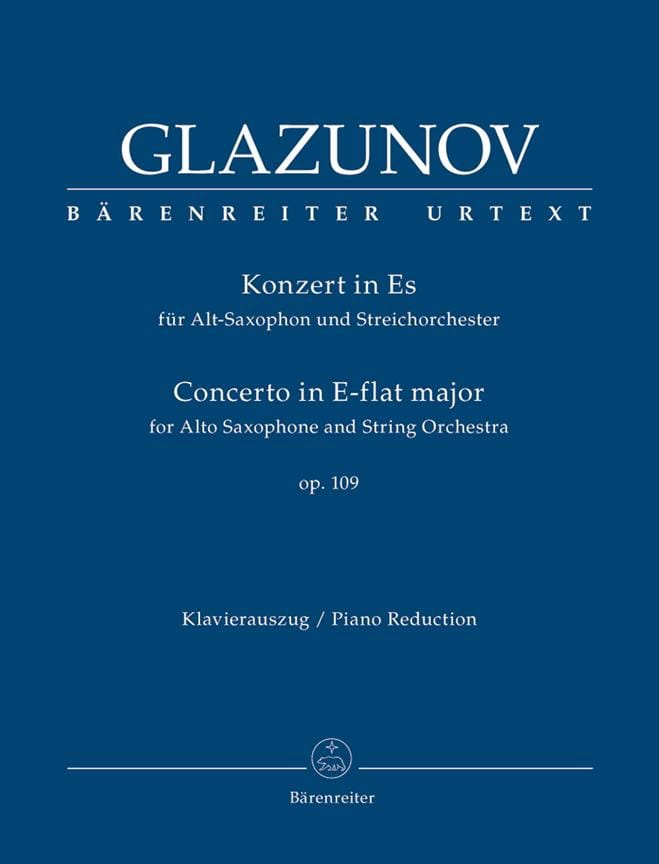 Alexander Glazounov - Concierto en E Flat Major Op.109 - Partition - di-arezzo.es