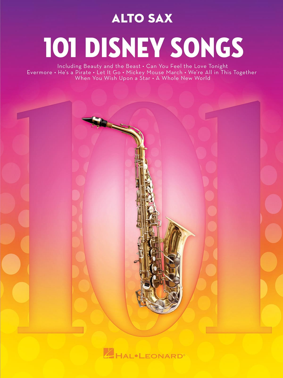 101 Disney Songs - DISNEY - Partition - Saxophone - laflutedepan.com