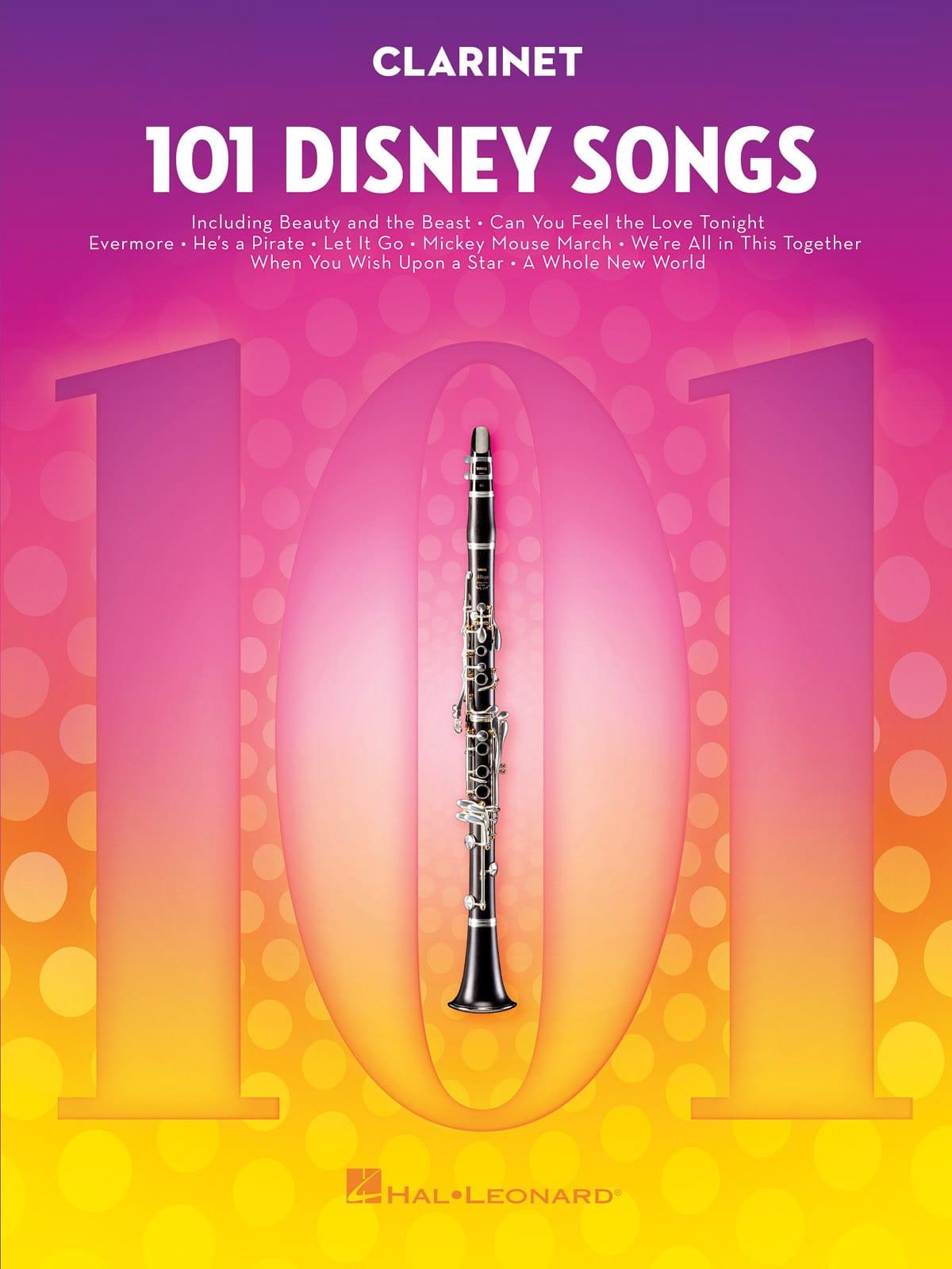 101 Disney Songs - DISNEY - Partition - Clarinette - laflutedepan.com
