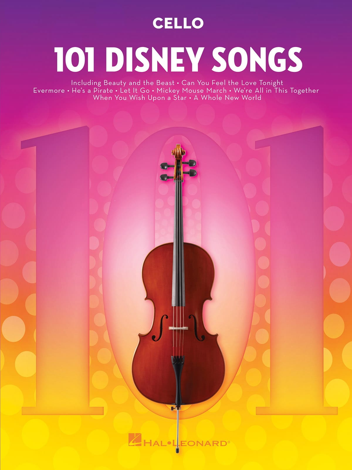 101 Disney Songs - DISNEY - Partition - Violoncelle - laflutedepan.com