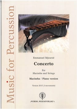 Emmanuel Séjourné - Concerto for Marimba and Strings - 2015 Version - Partition - di-arezzo.co.uk