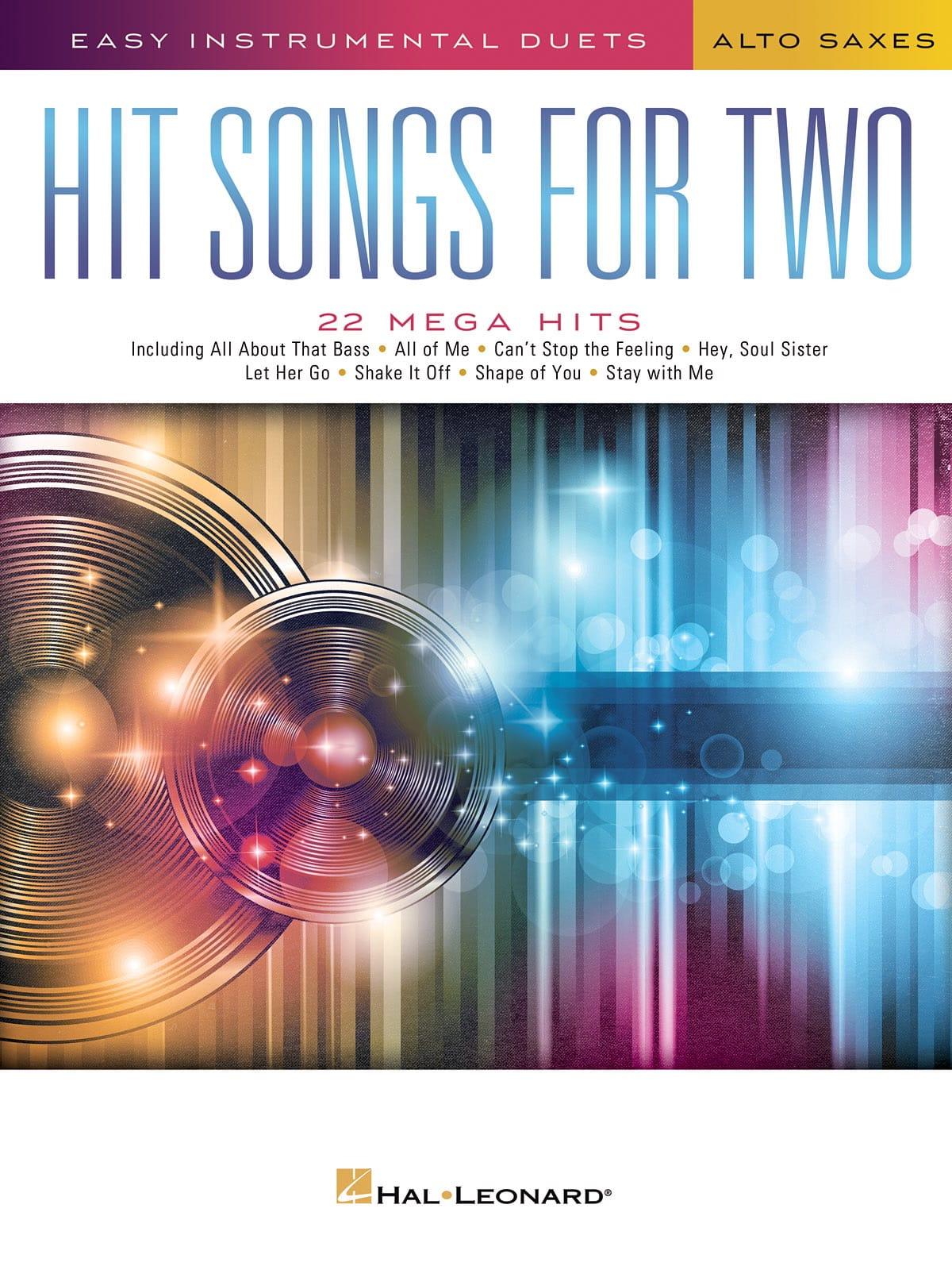 Hit Songs for Two Alto Saxophones - Partition - laflutedepan.com