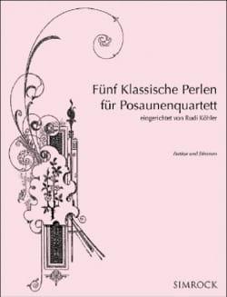 Cinq Perles Classiques pour Quatuor de Trombones - laflutedepan.com