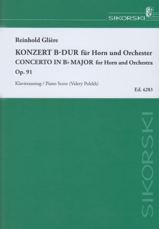 Reinhold Glière - Concierto en Sib Major Opus 91 - Partition - di-arezzo.es