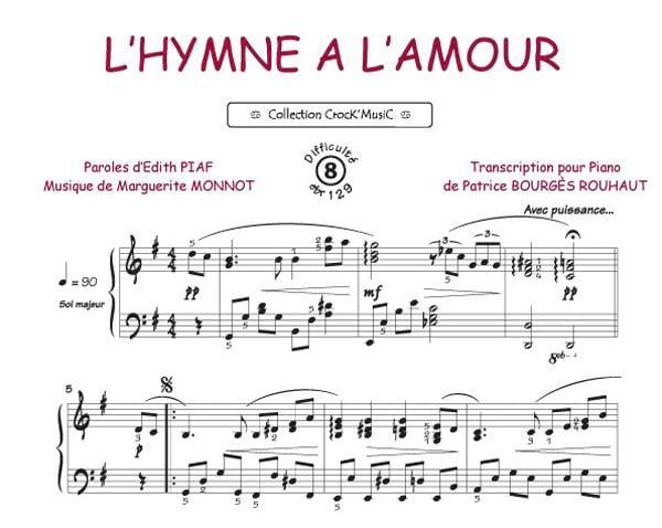 Edith Piaf - Die Hymne zu lieben - Partition - di-arezzo.de