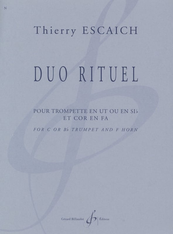 Duo Rituel - Thierry Escaich - Partition - laflutedepan.com