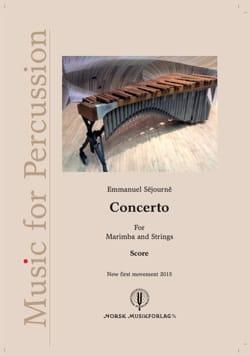 Emmanuel Séjourné - Concerto for Marimba and Strings - 1er Mouvement, Version 2015 - Partition - di-arezzo.fr