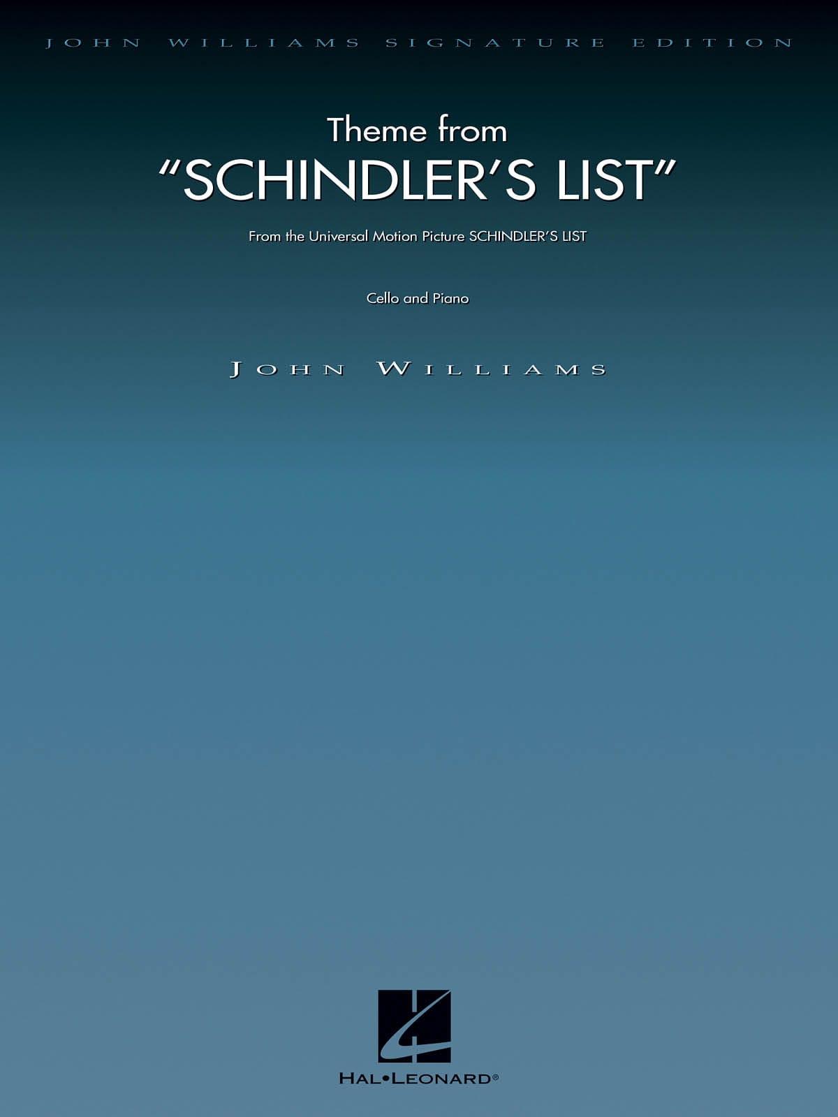 John Williams - Lista de Schindler - Violonchelo - Partition - di-arezzo.es