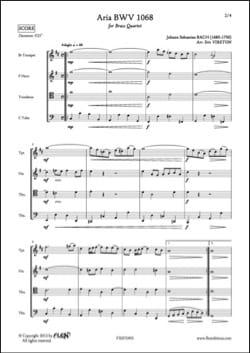 BACH - Aria - BWV 1068 - Partition - di-arezzo.com