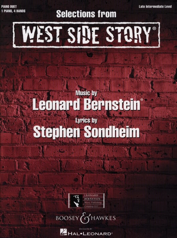 Leonard Bernstein - West Side Story for piano 4 hands - Partition - di-arezzo.co.uk