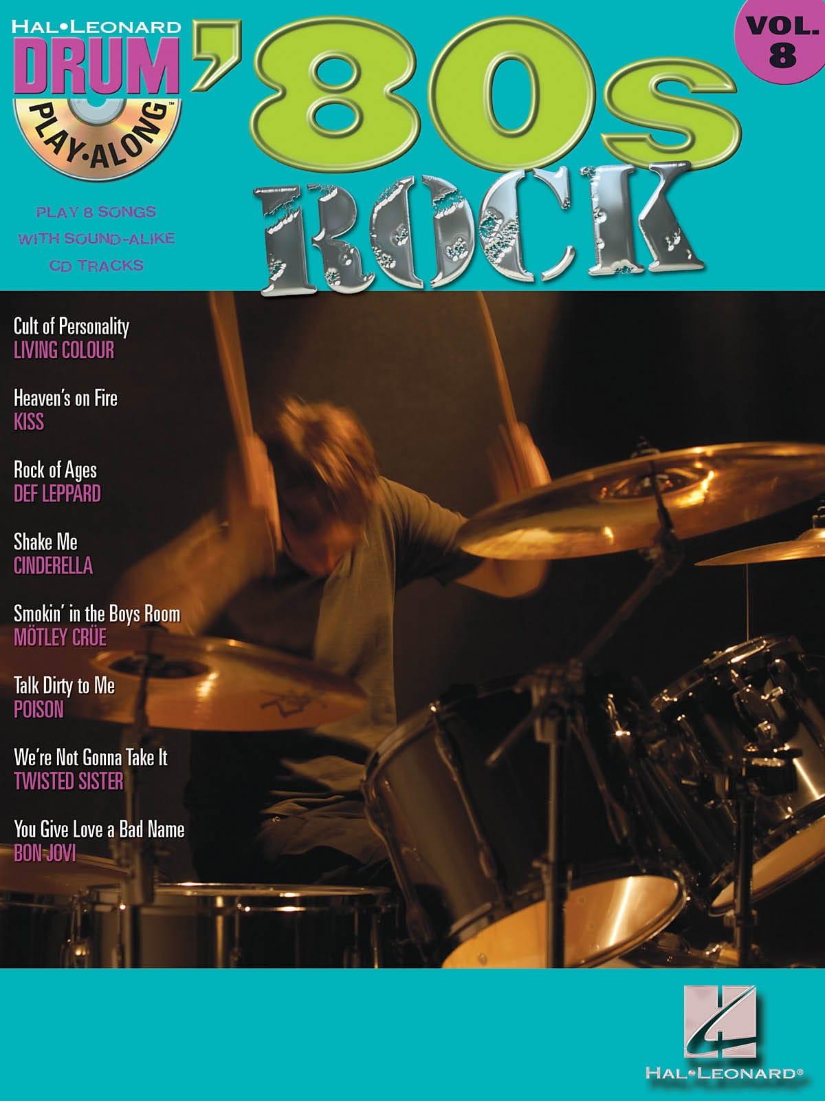 Drum play-along volume 8 - '80s Rock - laflutedepan.com