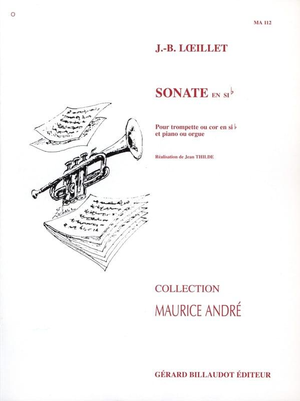 Jean-Baptiste Loeillet - Sonate en sib - Partition - di-arezzo.fr