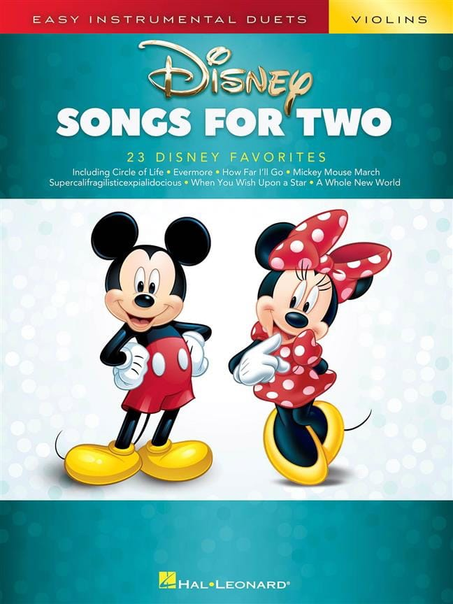 Disney Songs for Two Violins - DISNEY - Partition - laflutedepan.com