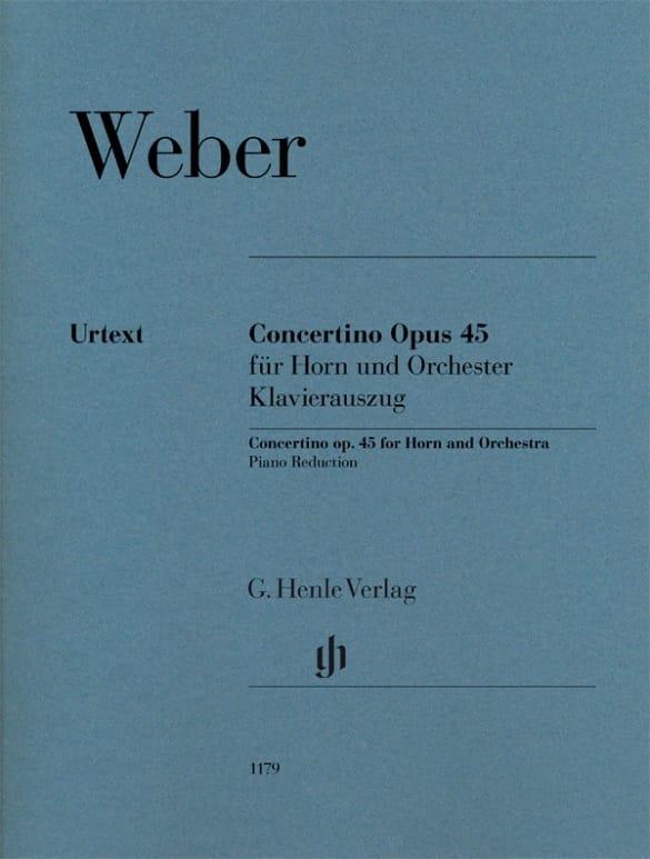 Carl Maria von Weber - Concertino Opus 45 para trompa y orquesta - Urtext - Partition - di-arezzo.es
