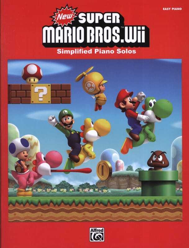 Musique de Jeux Vidéo - New Super Mario Bros. Wii - Simplified Piano - Partition - di-arezzo.com