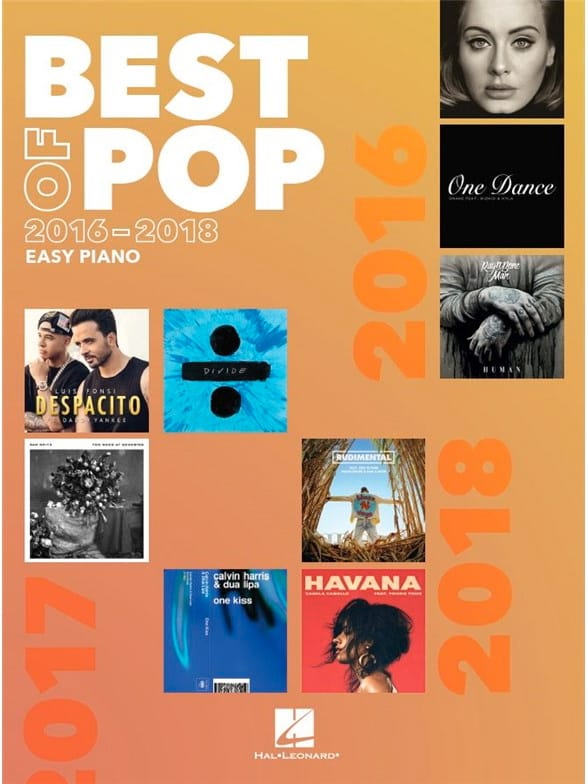 Best Of Pop 2016-2018 - Easy Piano - Partition - laflutedepan.com