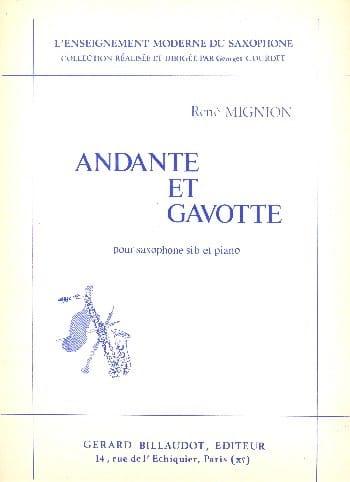 Andante Et Gavotte - René Mignion - Partition - laflutedepan.com
