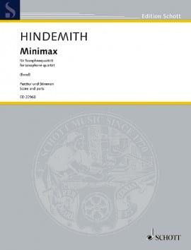 Paul Hindemith - Minimax - Quartet Saxophone - Partition - di-arezzo.co.uk
