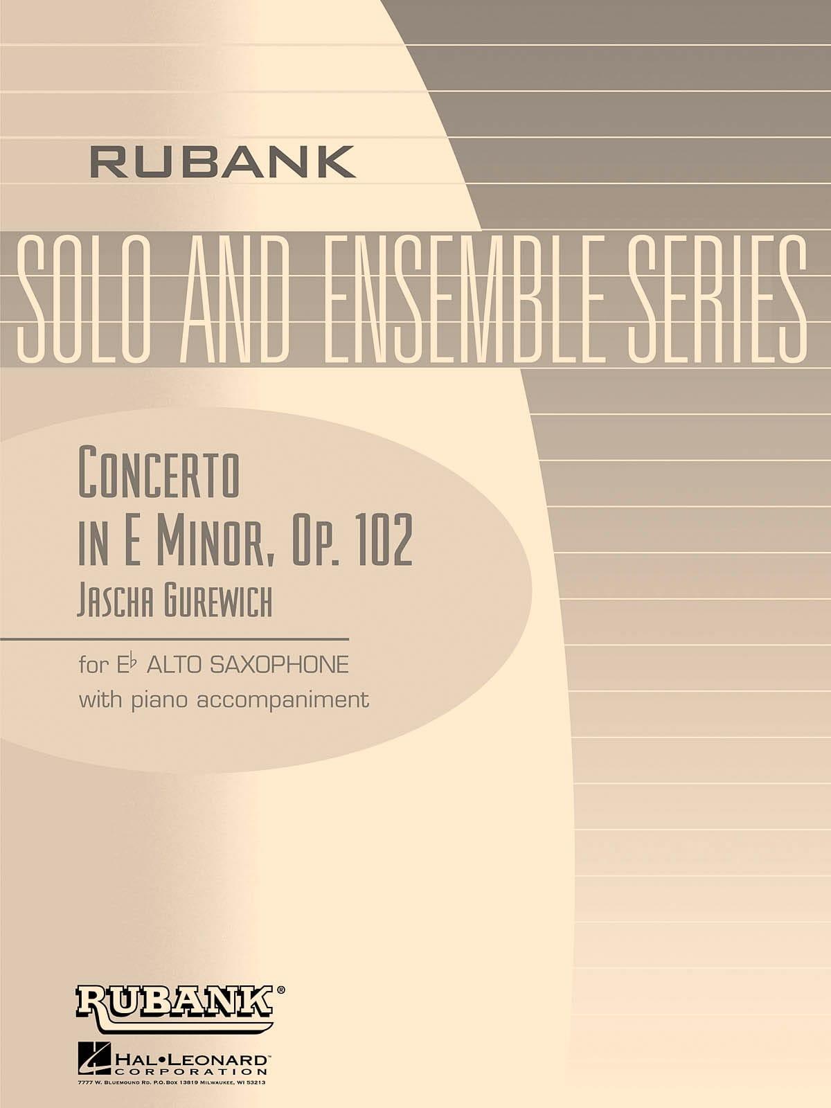 Concerto en Mi mineur - Opus 102 - Jascha Gurewich - laflutedepan.com