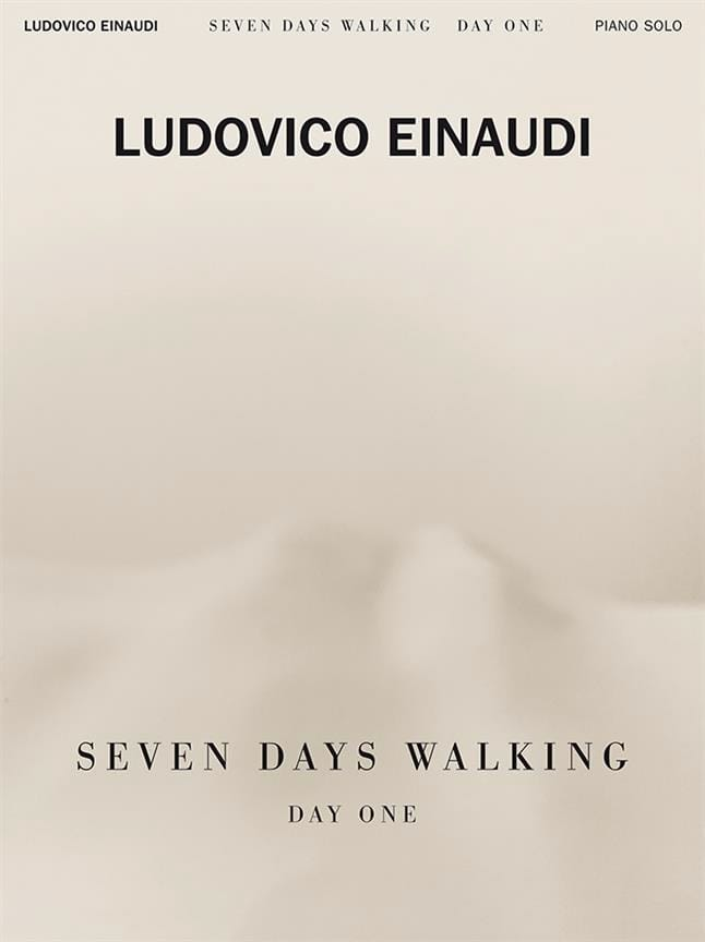 Ludovico Einaudi - Seven Days Walking - Day one - Partition - di-arezzo.com