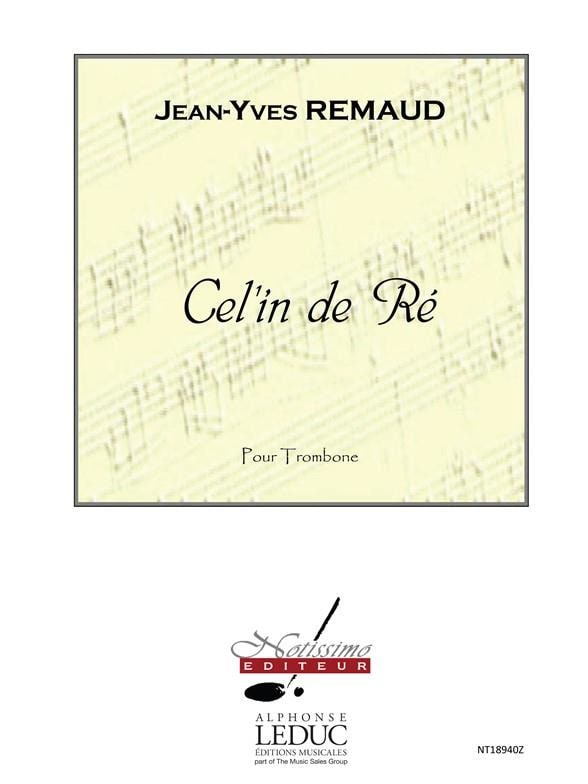 Cel'In De Re - Jean-Yves Remaud - Partition - laflutedepan.com