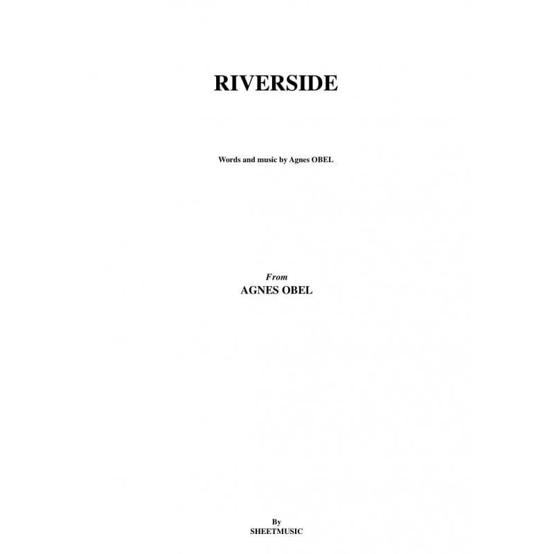 Riverside - Agnès Obel - Partition - Pop / Rock - laflutedepan.com