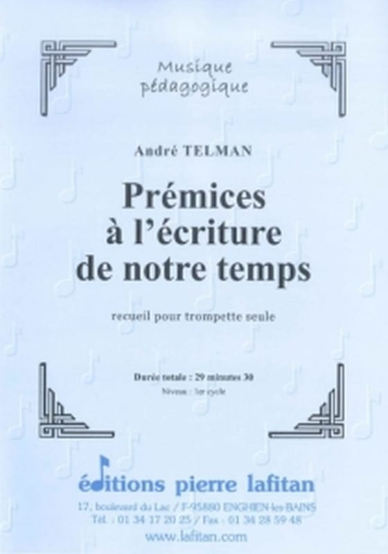 André Telman - Beginnings to the writing of our time - Partition - di-arezzo.com