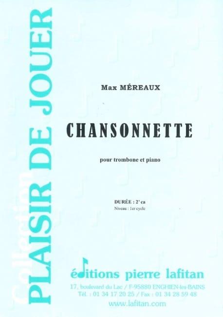 Chansonnette - Max Méreaux - Partition - Trombone - laflutedepan.com