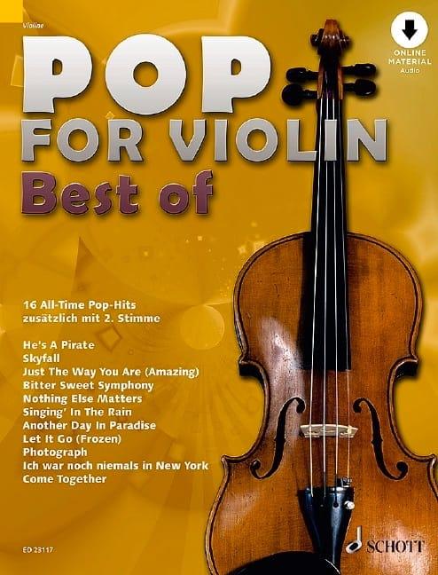 Pop for Violin - Volume Best Of - Partition - laflutedepan.com