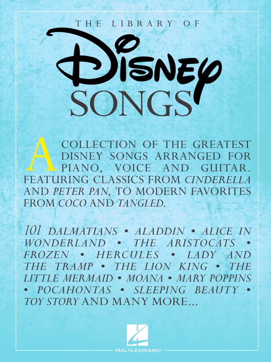 The Library of Disney Songs - DISNEY - Partition - laflutedepan.com