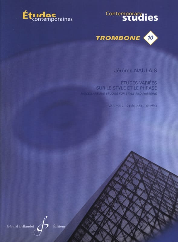 Jérôme Naulais - 10 - Varied studies on style and phrasing volume 2 - 21 Etudes - Partition - di-arezzo.co.uk