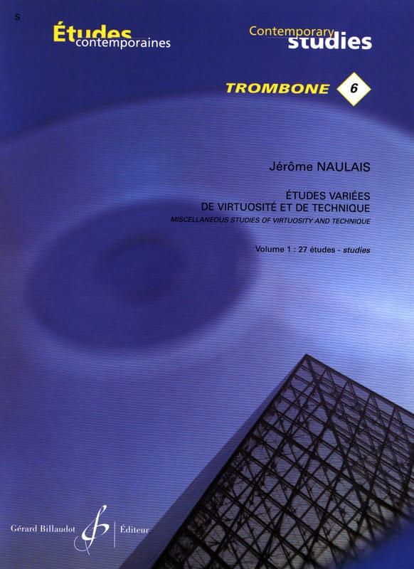 Jérôme Naulais - 6- Varied studies of virtuosity and technique volume 1 - 27 Etudes - Partition - di-arezzo.com