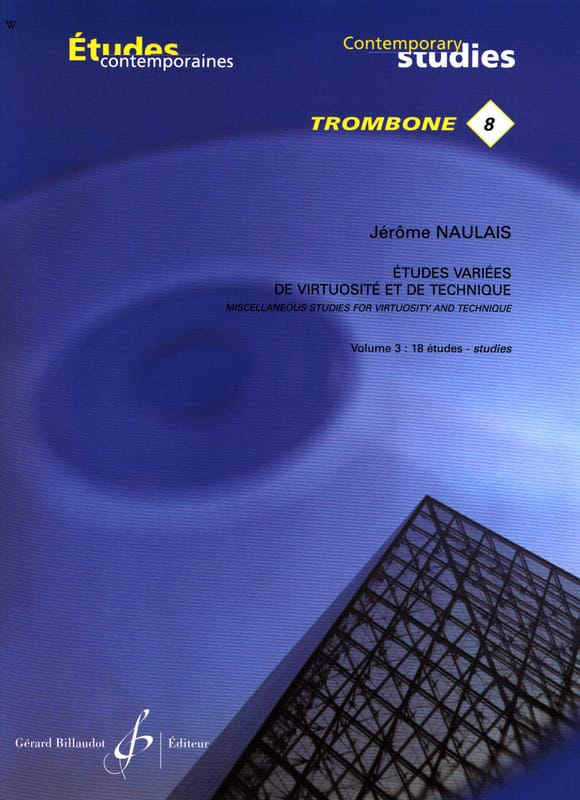 Jérôme Naulais - 8- Various studies of virtuosity and technique volume 3 - 18 Etudes - Partition - di-arezzo.com