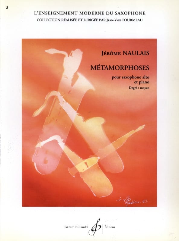 Jérôme Naulais - Métamorphoses - Partition - di-arezzo.fr