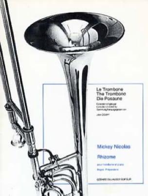 Rhizome - Mickey Nicolas - Partition - Trombone - laflutedepan.com