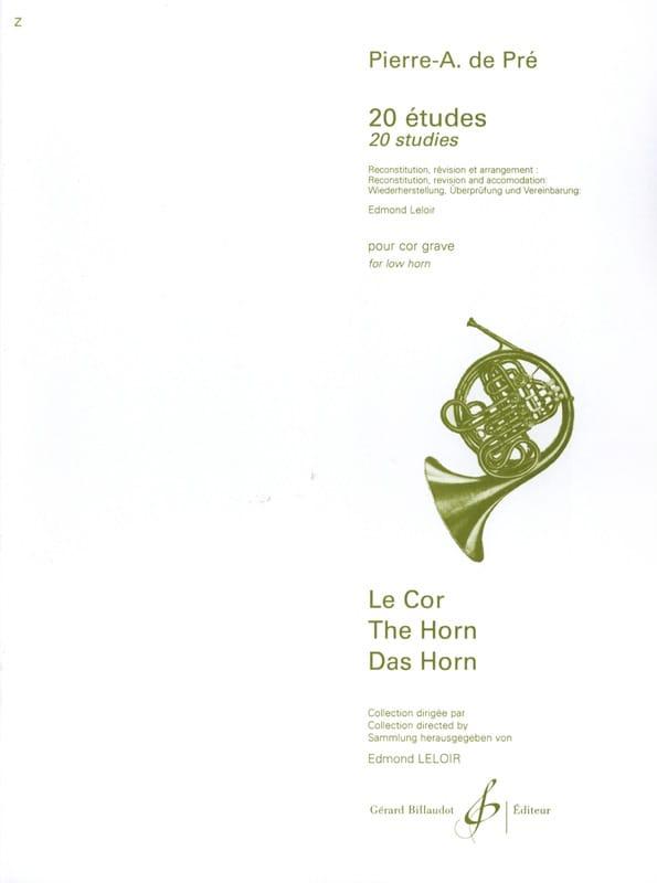 20 Etudes - Pierre A. de PRE - Partition - Cor - laflutedepan.com