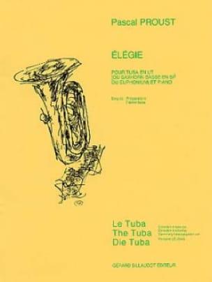 Elegie - Pascal Proust - Partition - Tuba - laflutedepan.com
