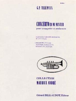 Concerto En Mi Mineur - TELEMANN - Partition - laflutedepan.com