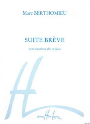 Marc Berthomieu - Suite breve - Partition - di-arezzo.es